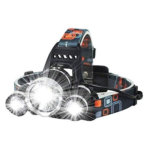 HKJZ SFLRW Lámpara de Cabeza.Lámpara de Cabeza LED Recargable USB.Faros para Adultos, Camping, al Aire Libre y Trabajo de Sombrero Duro.