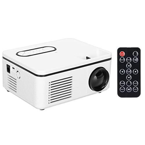Mini Proyector,Proyector De Video Portátil 1080P LED Digital HD A Todo Color Con Interfaces HDMI USB AV Y Control Remoto Pico Movie Projector Para Niños Presentes, Video TV Movie, Party Game(EU)