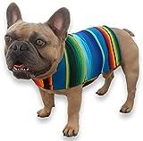 Poncho para perro hecho a mano de cobija de serape mexicano – Ropa para perro – Abrigo...