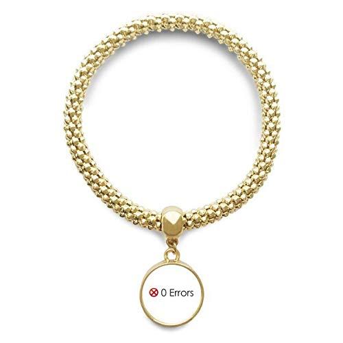 DIYthinker Womens Programmer Programma Interface Geen Fouten Gouden Armband Ronde Hanger Sieraden Ketting