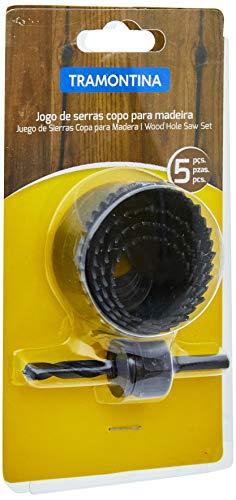 Tramontina 42625501, Jogo de Serras Copo para Madeira 5 Peças, Corpo em Aço Especial, Dentes Travados
