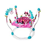 Xiangtat Minnie Mouse Peek-A-Boo Foldable Baby Girl Activity, Entertainment, Leaning, and Developmental Jumper with Lights, Melodies, and Toys,