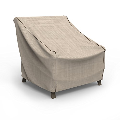 Budge P1W02PM1 English Garden Patio Chair Cover Heavy Duty and Waterproof, Large, Tan Tweed