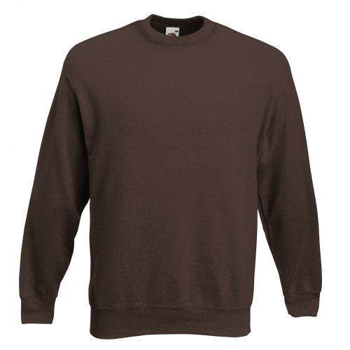 Fruit of the Loom Herren Sweatshirt Premium Set-In Sweat 62-154-0 Chocolate XXL