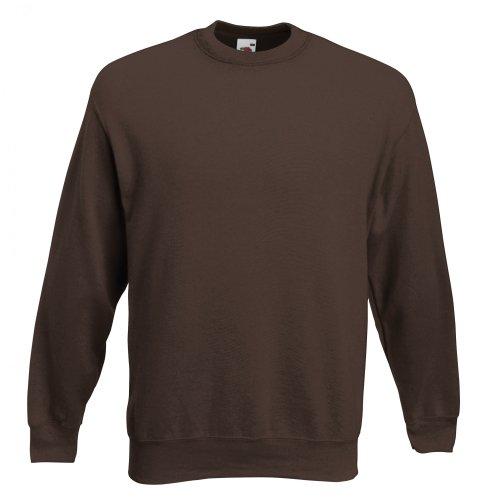 Fruit of the Loom Herren Sweatshirt Premium Set-In Sweat 62-154-0 Chocolate XXL