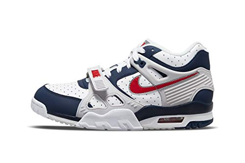 Nike Herren AIR Trainer 3 Basketballschuh, Midnight Navy University Red White, 46 EU