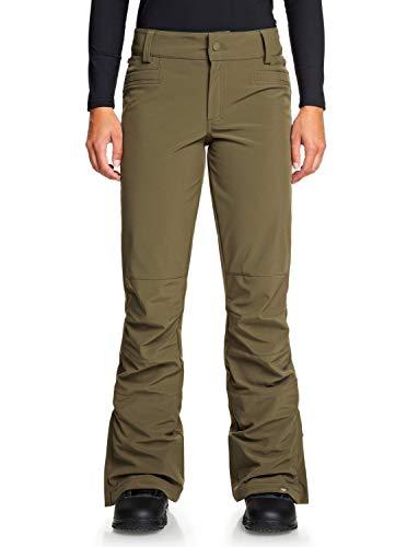 Roxy Creek-Pantalón Shell para Nieve para Mujer, Ivy Green, L