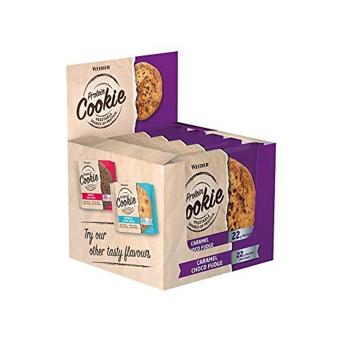 Weider Protein Cookie, Gusto Caramello-Cioccolato - Biscotti da 90g