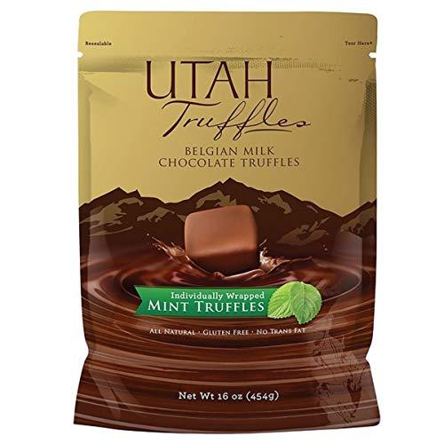 small Mint Truffle – Utah Truffle Belgian Milk Mint Chocolate Truffle 16 oz.Sachet