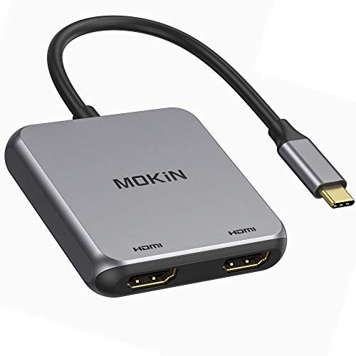 USB C to Dual HDMI Adapter, USB C to HDMI Adapter, Type C/Thunderbolt 3 to Dual HDMI Display 4K, USB C Hub to Dual HDMI Compatible MacBook/MacBook Pro,Surface,LenovoYoga,Dell XPS,Surface Book 2, etc
