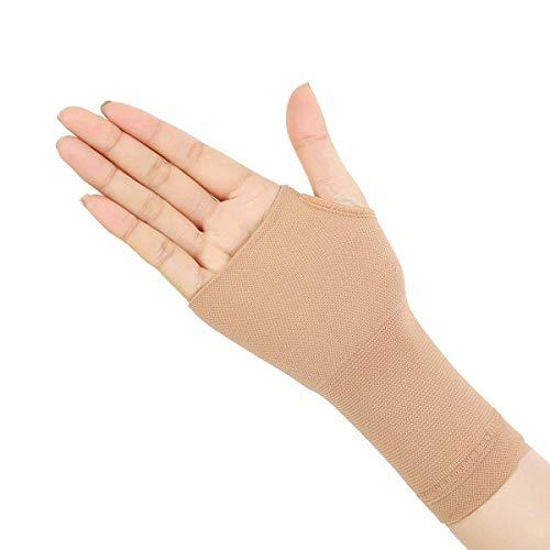 Ortesis de muñeca Soporte ortopédico, 1 par de artritis alargada Guantes de compresión Pulgar Mano Muñeca Soporte Guantes Tendonitis Alivio reumatoide Alivio del dolor (Size : Skin Color S)