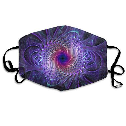 Neue lila Krawattenfarbe Psychedelic Trippy Art Anti Allergie Einstellbare Gummiband Mundmasken für Frauen Männer Kinder,warme halbe Gesichtsmundmaske für Staub,Dental,Camping - Anti Tierhaarallergie
