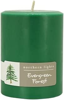 Northern Lights Candles Fragrance Palette 3x4 Pillar Evergreen Forest