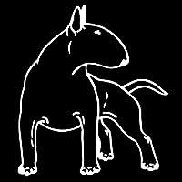 ZDZCLI ブルテリア犬の楽しい犬の車のステッカーアクセサリー車のスタイリングデカールビニール車の窓カバースクラッチPVC 14cm * 12cm 自動車部品用装飾ステッカー (Color Name : Silver, Size : 14cm x 12cm)