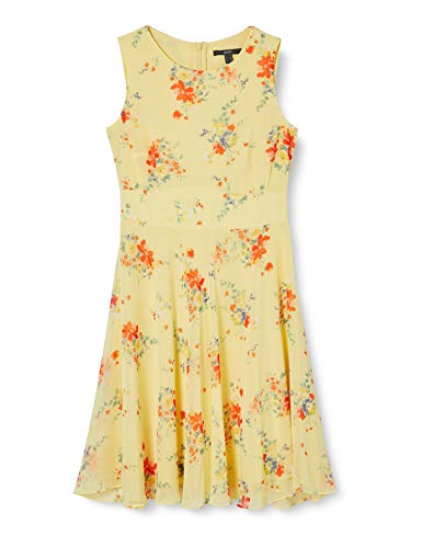 ESPRIT Collection Damen 050EO1E331 Kleid, 763/LIME Yellow 4, 44