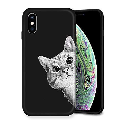 Litech Case for Apple iPhone X/iPhone Xs [Flexfit] Premium Scratch-Resistant Cute Creative Artistic Design (Cat 5)