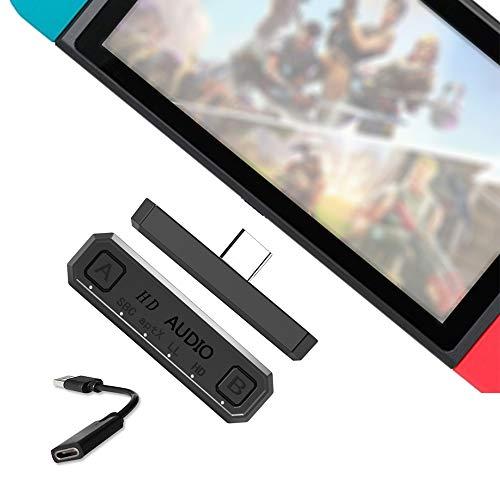 Andoer Adaptador BT Transmissor USB TYPE-C de áudio compatível com PS4 PC NES Lite Suporte Adaptadores de áudio BT para jogos portáteis Dual Stream