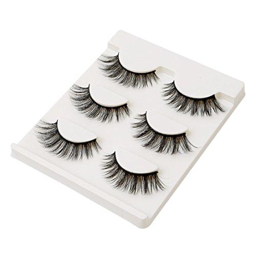 VWH 3 Paar falsche Wimpern natürliche nackte Make-up handgefertigt 3D-Stereo-Wimpern
