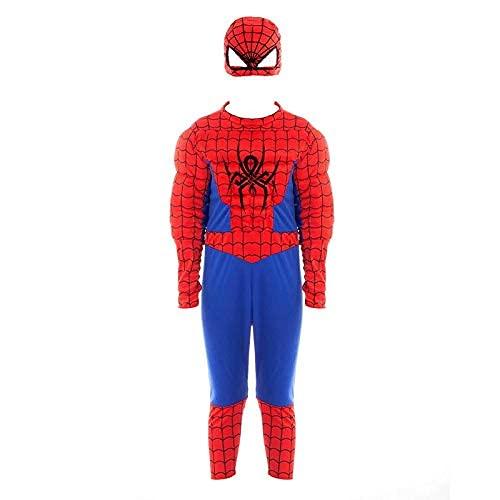 Disfraz Superhéroe Spider Niño (Talla Infantil Desde 3 a 12 años) [Talla 3-4 años]| Traje Cosplay Héroes para Fiestas Disfraces Carnaval Halloween Cumpleaños