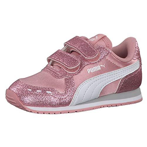 Puma Kinder Sneaker Cabana Racer Glitz V 370986 Bridal Rose-Puma White-Gray Violet 22