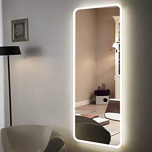 Espejo de Cuerpo Entero sin Marco Inteligente Espejo de Cuerpo Entero LED montado en la Pared con Espejo de Piso de luz Espejo de luz Decorativa 40 * 120cm Espejo a Prueba de explosiones Inteligente
