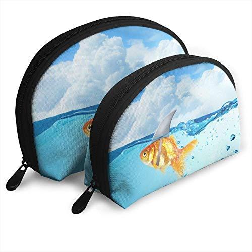 XCNGG Aufbewahrungstasche für Meerestiere Geldbörse Kosmetische Reisetasche Eine große und eine kleine 2-teilige Schreibwaren-Bleistift-Multifunktions-Tasche Kindergeldbörse Schlüsseletui Handtasche
