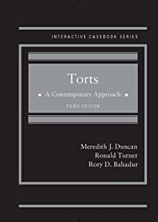 Torts, A Contemporary Approach (Interactive Casebook Series)