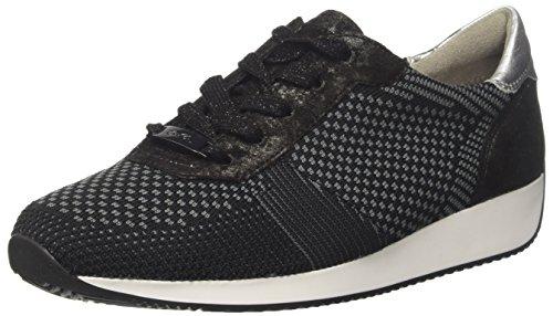 ARA Damen LISSABON Sneaker, Schwarz (Schwarz-Grau, Schwarz/Silber 07), 36 EU