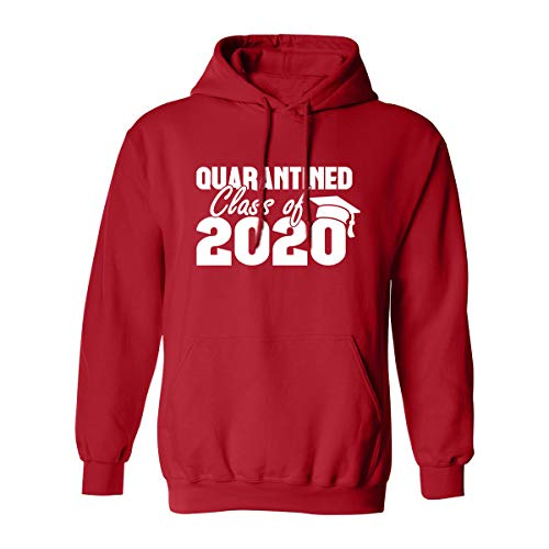 Quarantined Class of 2020 Adult Hooded Sweatshirt in Red - Large