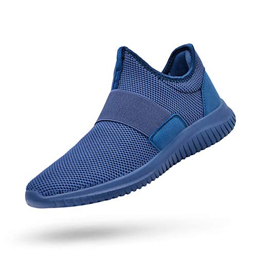 QANSI Mens Sneakers Slip-on Athletic Sports Running Walking Shoes Lightweight Workout Gym Tennis Shoes Blue 9