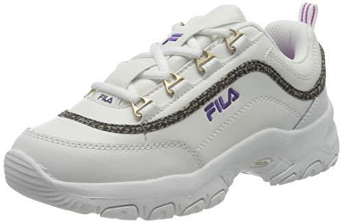 FILA Strada A kids zapatilla Unisex niños, blanco (White/Purple Cactus Flower), 35 EU