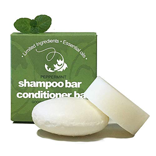 Whiff Spiraleaf Shampoo & Conditioner Bar Set, Peppermint Essential Oil, Limited Ingredients, Zero...