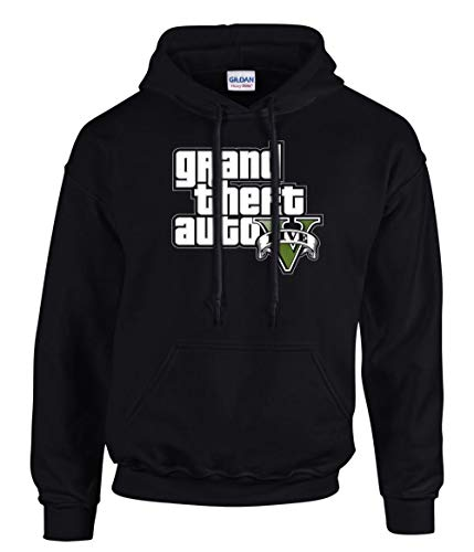 shirt19 GTA V GTA 5 Grand Theft Auto 5 Rockstar Jogos Games Logo Kapuzenpullover Hoodie -3196 - SW (M)