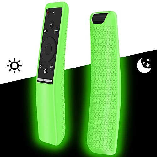 Silicone Protective Case Covers Holder Compatible for Samsung Smart TV Remote Controller of BN59 Series,Remote case Skin Sleeve Protector for Samsung Smart 4K Ultra HDTV Remote Control-Glow Green