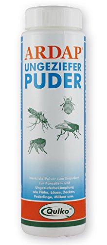 ARDAP Ungezieferpuder 100g - Zur Bekämpfung von Parasiten wie Flöhe, Läuse, Zecken, Federlinge, Milben & Fliegen - Zur direkten Anwendung am Tier