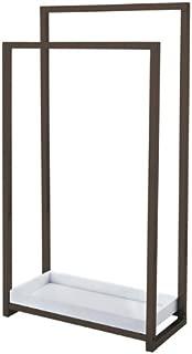 Kingston Brass SCC8265 Pedestal 2-Tier Steel Construction Towel Rack with Wooden Case, Oil Rubbed Bronze