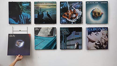 Vinyl-Waller - 8 Vinyl-Rahmen für Alben, 33 Umdrehungen, 12 Zoll - 8 Wandaufhängung für Vinylscheiben 33 Umdrehungen an der Wand - originelle Geschenkidee
