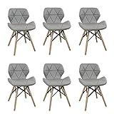 Milani Home s.r.l.s. Set di 6 Sedie da Cucina Moderna di Design...