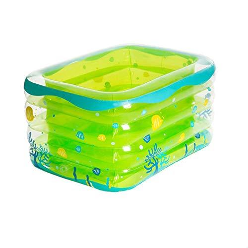 Chil natación piscina inflable, grueso resistente al desgaste piscina interior y exterior del baño del bebé de bañera plegable portátil Con piscina Family Water Park kairui (Color: Verde, tamaño: 120