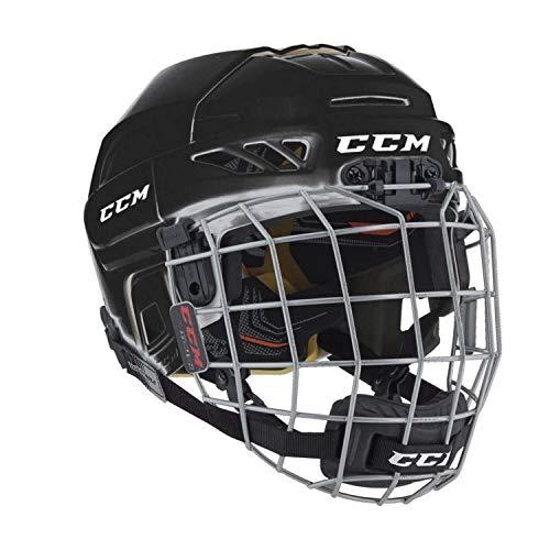 CCM FL3DS Youth Casco Dual-Sport Hockey Negro - Cascos de protección para Deportes (Casco Dual-Sport, Construcción Robusta con calota Dura, Brillo)