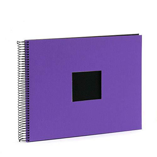 goldbuch Spiralalbum lila 34x30 40 Schwarze Seiten 25974