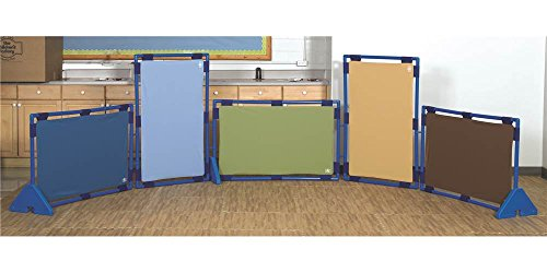 Children's Factory Rect. Woodland PlayPanel Set - 5, Room Divider Panels, Free-Standing Classroom Partition Screens for Daycare/Homeschool/Montessori