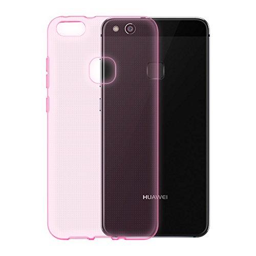 Preisvergleich Produktbild Cadorabo Hülle für Huawei P9 LITE in TRANSPARENT PINK - Handyhülle aus flexiblem TPU Silikon - Silikonhülle Schutzhülle Ultra Slim Soft Back Cover Case Bumper