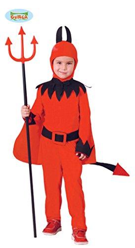 Guirca- Costume Diavoletto Bambino 10/12 Anni, Colore Rosso/Nero, 81815