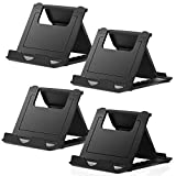 Yay Handy-Ständer, 4 Stück, Tablet-Ständer, universal, faltbar, Multi-Winkel-Halterung (4P schwarz)