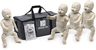 4-Pack of Infant CPR Manikins with Compression Rate Monitors by Prestan, Medium Skin Tone PP-IM-400M-MS