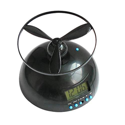 Fenteer Novedad Crazy Helicopter Flying Digital Aging Led Reloj Despertador Gadget Watch