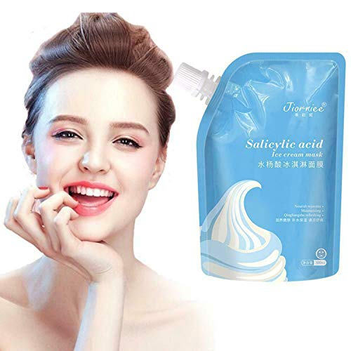 300ML Salicylic Acid Ultra Cleansing Mask Ice Cream Mask,Fades Acne Blackheads Remover Hydrate&Moisturizing Smear Sleeping Mask, 24 Hours Moisturizing Smear Sleeping Mask - for All Skin Types 1 PCS