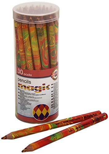 KOH-I-NOOR 'MAGIC' 3405 Jumbo Special Buntstifte mit mehrfarbiger Mine im Plastikköcher (30 Stück)