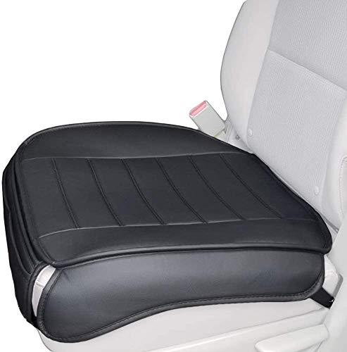 Big Ant Weich Sitzauflagen Auto, Autositzbezüge Sitzkissen Auto Sitzauflagen Sitzbezug für Auto Vordersitze mit PU-Leder (Schwarz-2 Stück)